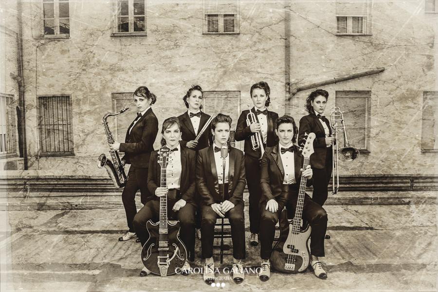 Sesión fotográfica de The Clams, músicos
